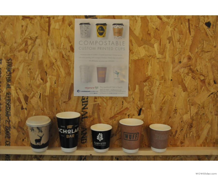 ... who were joined by Vegware, makers of the fully-compostable coffee cup.