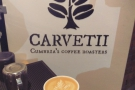 Naturally, the main draw is the coffee and my first stop these days is my friends, Carvetii.
