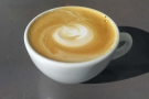 I started with a flat white, made with the Guatemalan Huehuetenango.