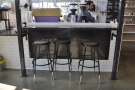 Grab one of the three stools and watch the barista at work.
