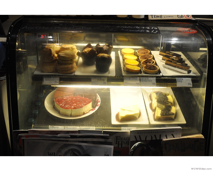 There's also a range of tempting, western-style cakes on display.