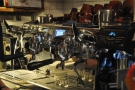 If you sit at the counter, you can watch your espresso extracting.