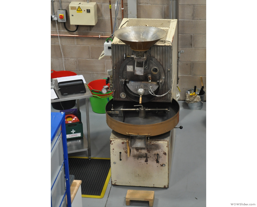 However, back on the production floor, pride of place goes to the 12kg Probat roaster.