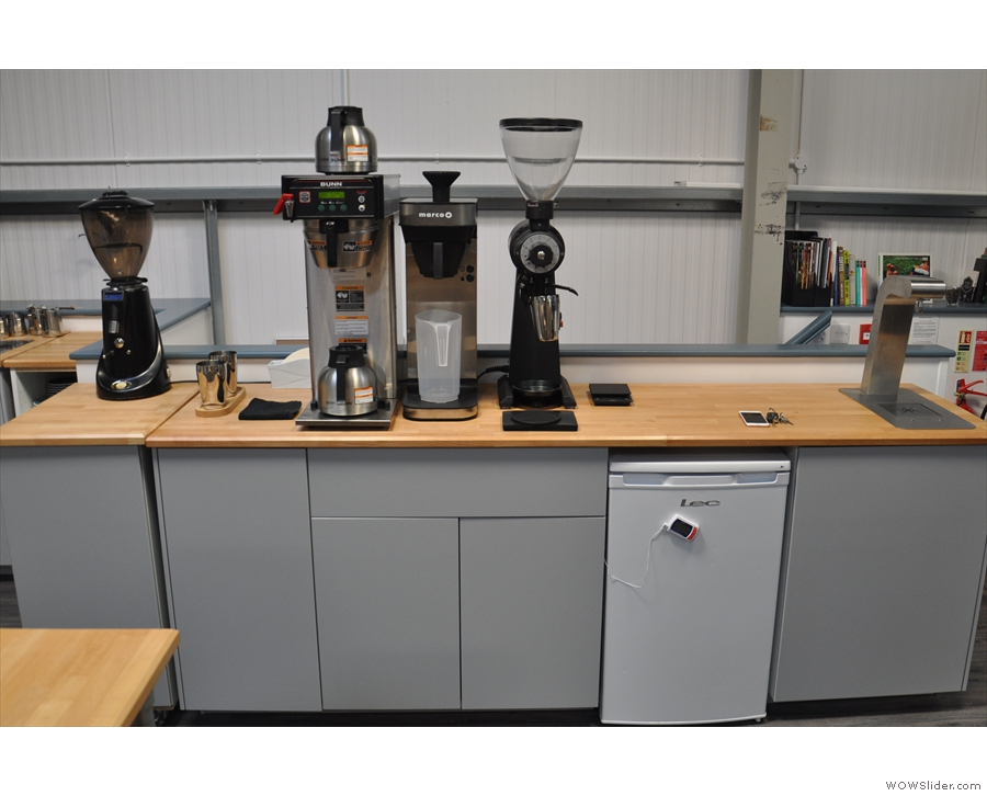 There's also a fliter station, complete with EK-43 grinder, an Uber boiler & various brewers.