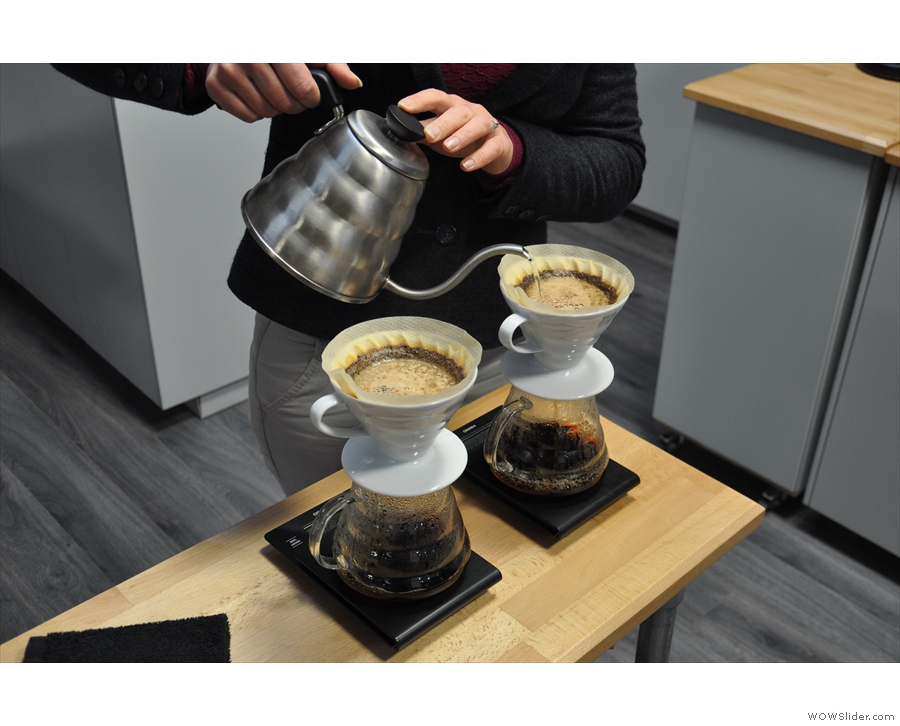 ... experiments we'd like to do, varying pouring styles and agitation.
