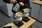 While she does all the work, Gareth and I talk about pour-over technique and some...