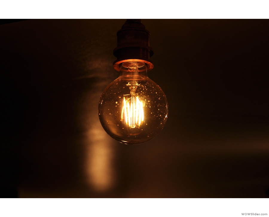 And some fantastic exposed light-bulbs such as this one.