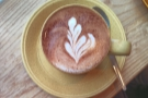 ... matched on by the loveliness of the latte art.