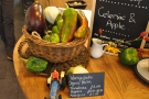 ... which includes some local produce from a nearby organic farm...