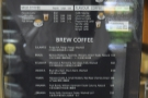 There's a comprehensive coffee menu...