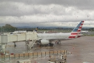 A better view of my plane, an American Airlines Boeing 757.