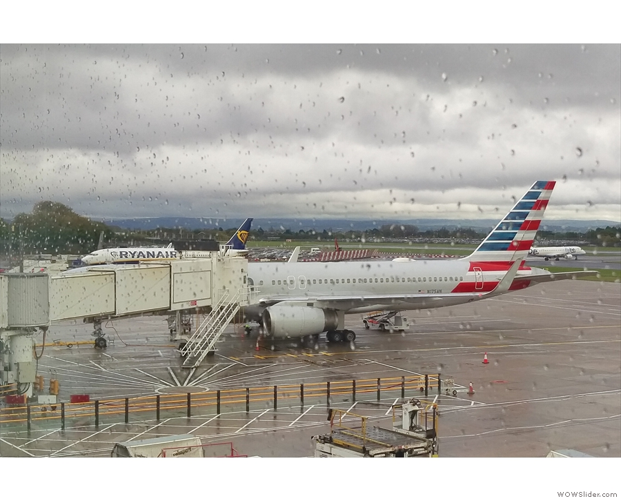 My plane, an American Airlines Boeing 757, waiting to take me to Chicago.