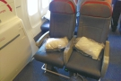 On board, this is my seat (9D, the one on the right).