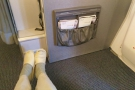 Look! Even when I stretched my legs out full, I couldn't reach the bulkhead.
