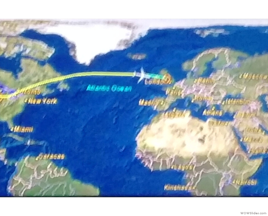 The flight back is quicker than the flight there: soon we're approaching Ireland...