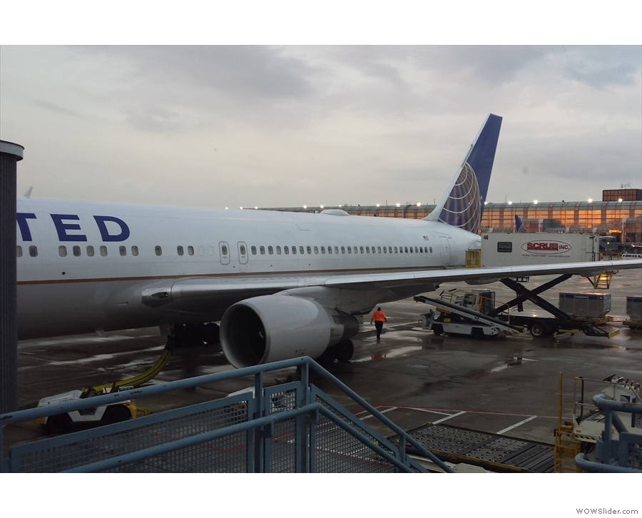 On the way back, I flew direct from Chicago to Heathrow with United on a Boeing 767-300.