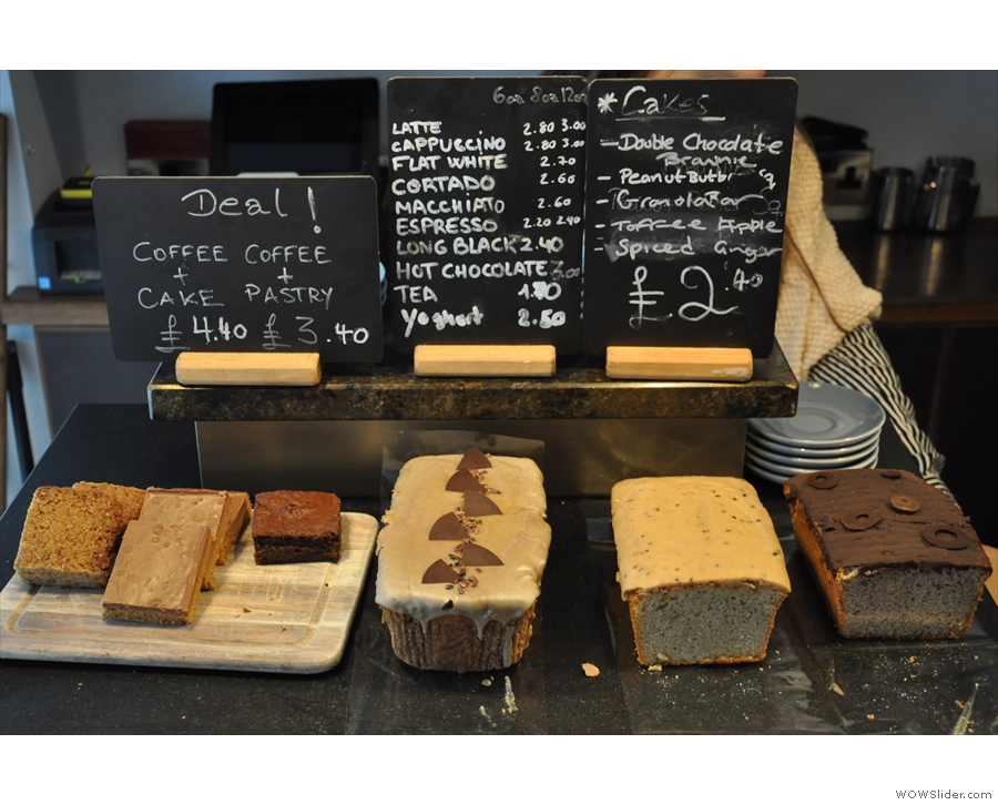 As ever, there is an excellent selection of cakes to be had, all locally make.