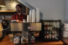 After a brief hiatus, Dan is back where he belongs, behind the espresso machine...