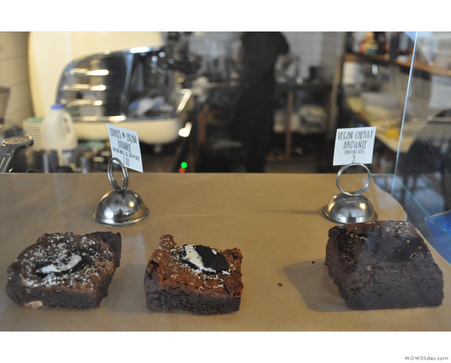 There's also a selection of brownies from local bakers, Brownie Owl.