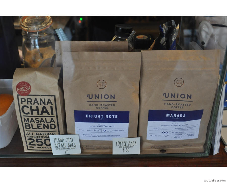 The coffee is from London's Union, with the Bright Note blend on espresso.