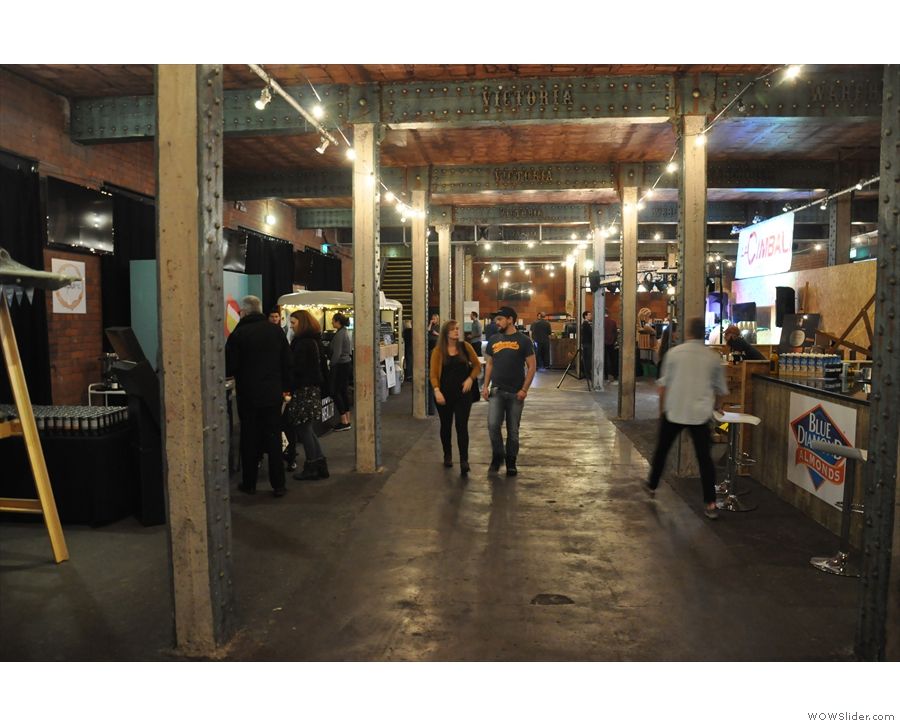 The spacious corridors of the Manchester Coffee Festival.