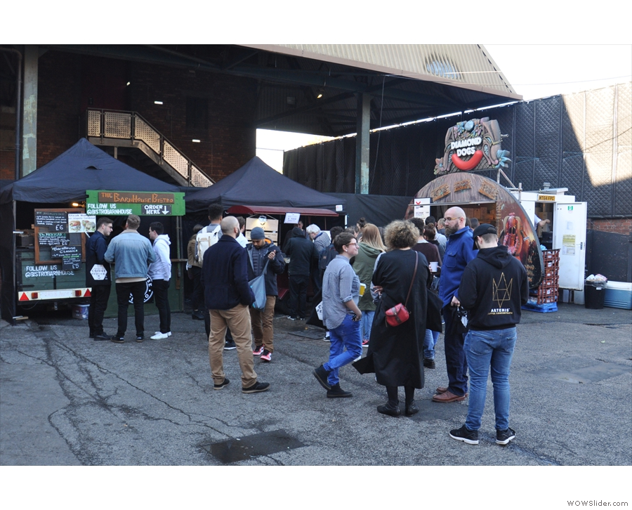 The final part of the festival was outside to the right of the doors: the street food!
