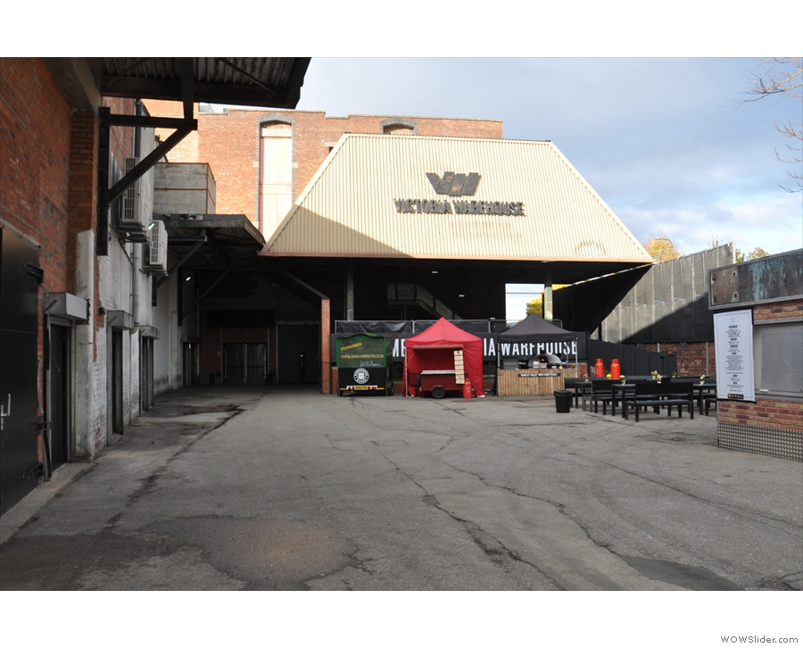 The Manchester Coffee Festival was once again in the Victoria Warehouse (2016 photo).