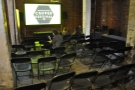 It's not all rows of stands though. This seating area hosted the sustainability talks...