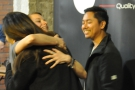 ... and then it's hugs all round!