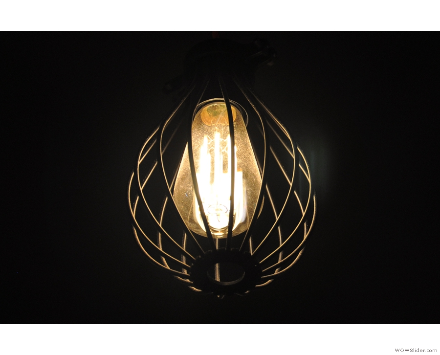 ... the caged light bulbs...