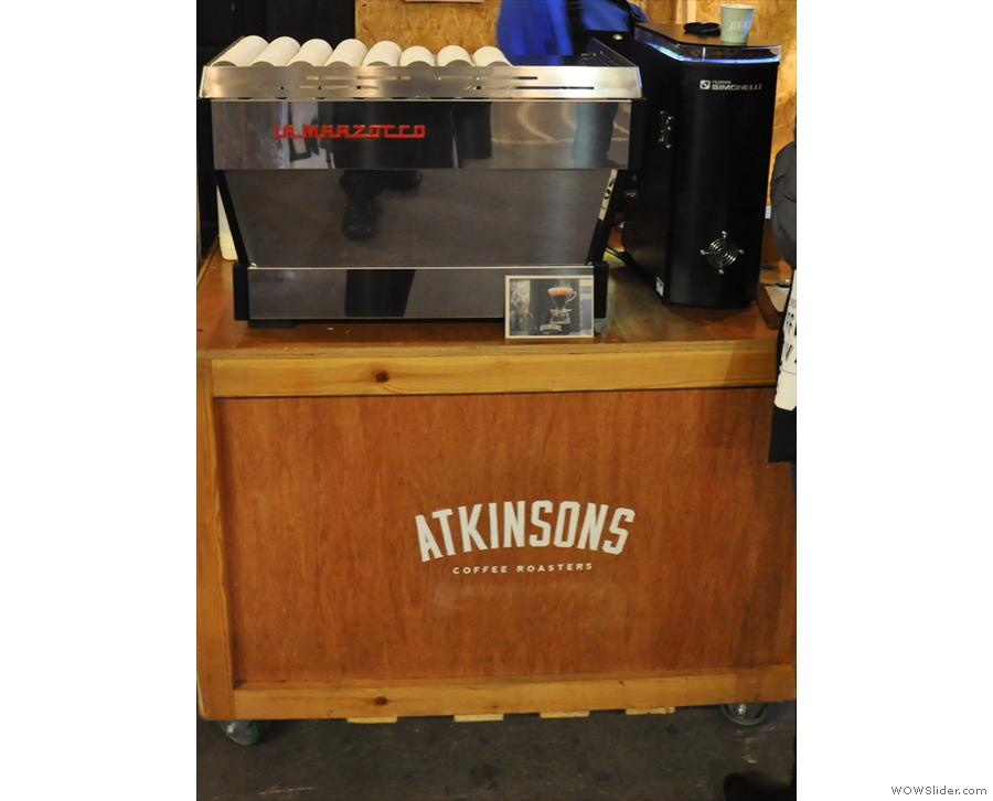... there was a La Marzocco espresso machine (I still pine for the old Faema E61).