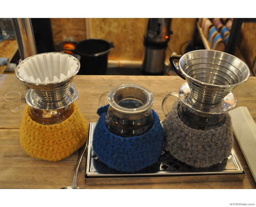 ... but I was very taken by the knitted carafe covers.