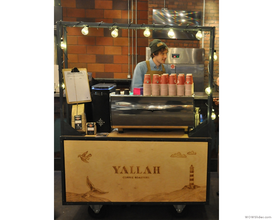 Next stop was Yallah Coffee, all the way from Cornwall.