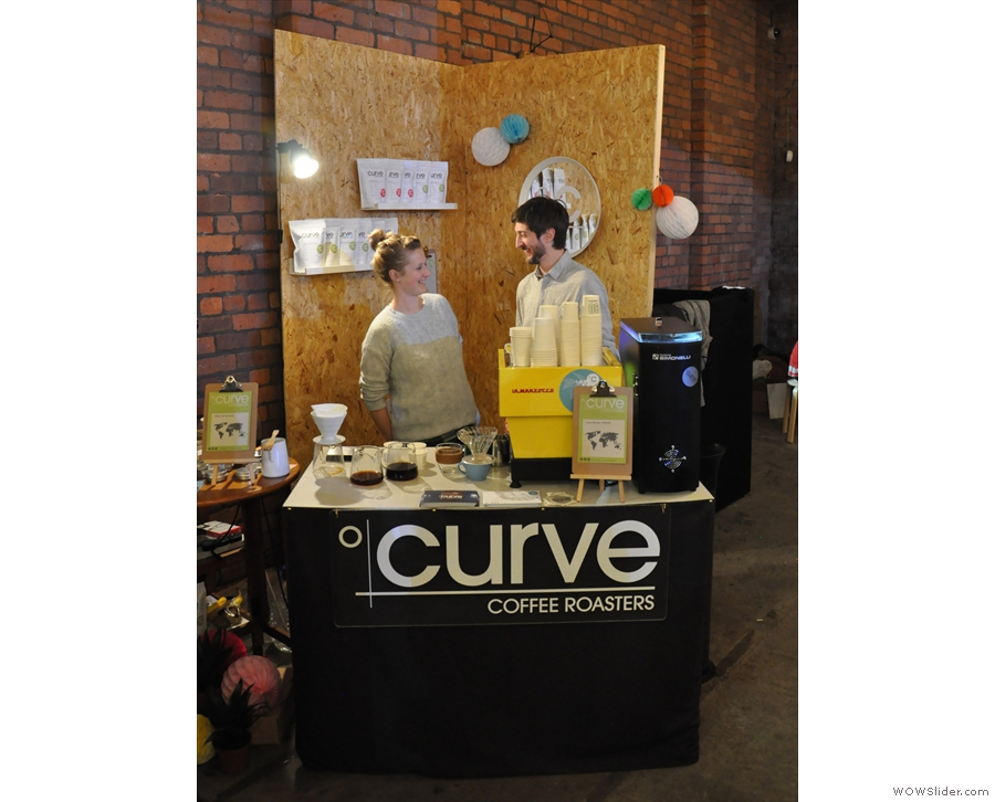 Next stop, Curve Coffee Roasters, with some exciting news about a coffee shop...
