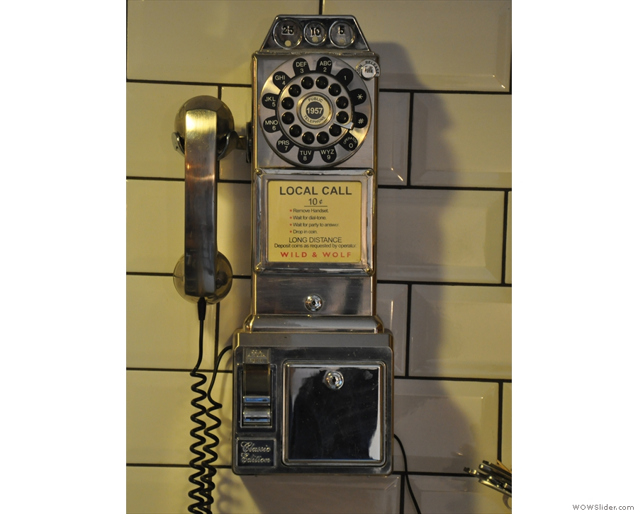 ... or this rather gorgeous American payphone on the wall behind the counter.