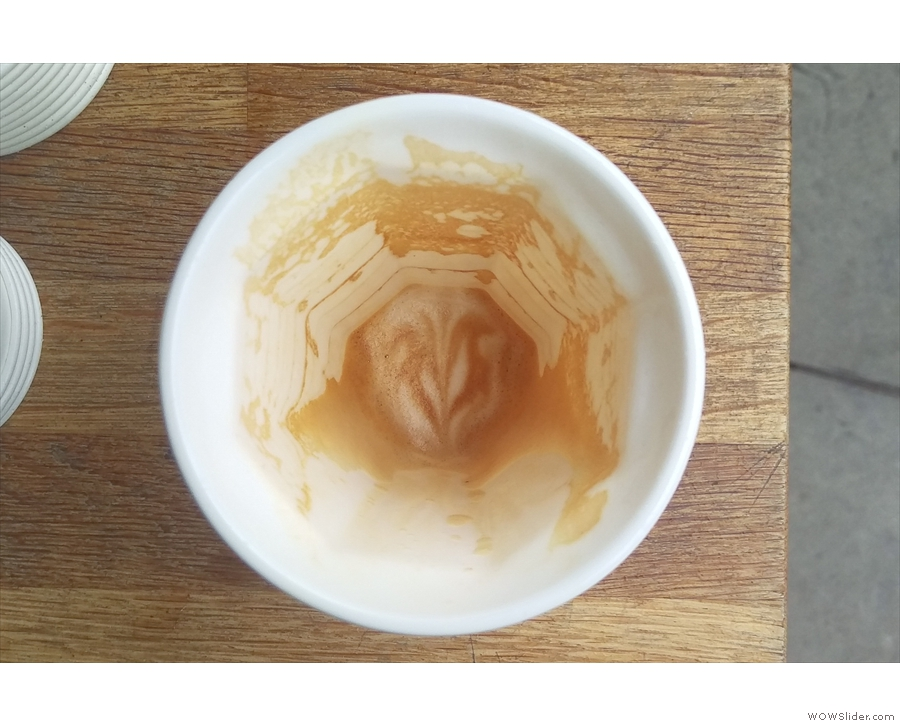 ... very bottom of the cup. Impressive!