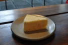 Rumors also sells cake. I had this very lovely slice of cheesecake to go with my coffee.