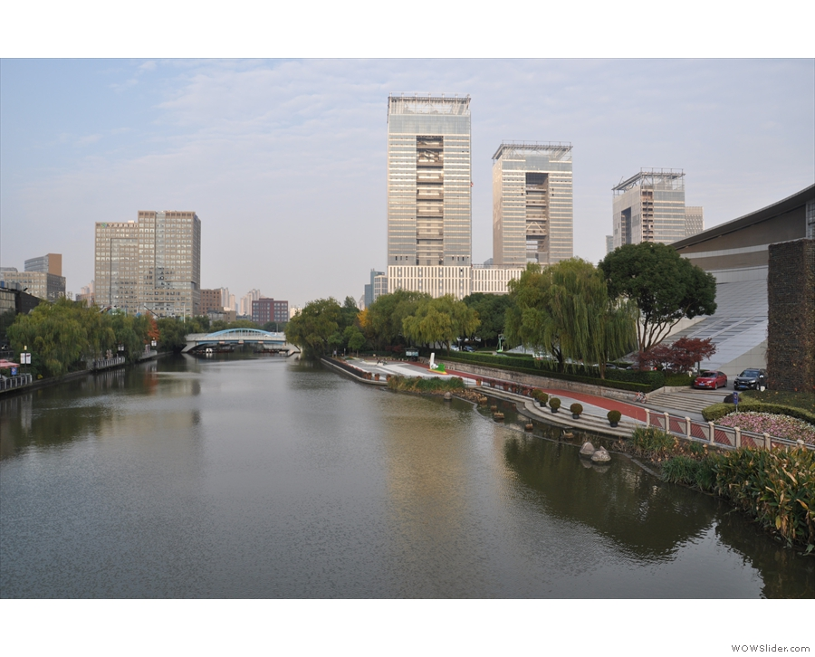 ... while this is the view looking west. Jinyan Road is on the south bank of the river.