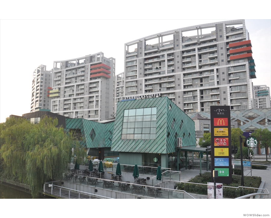 Shanghai's Jinyan Road in Pudong, home to an interesting-looking outdoor mall.