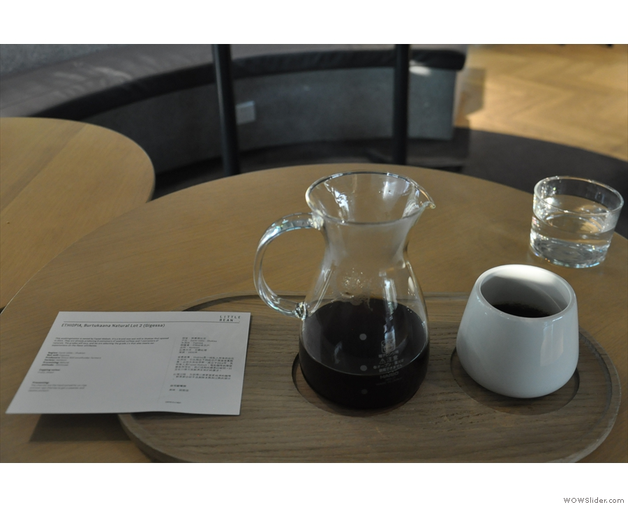 There's also a postcard giving details of the coffee, including its origin & tasting notes.