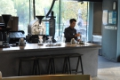 Finally, you can sit at one of four stools by the counter & watch pour-overs being made.