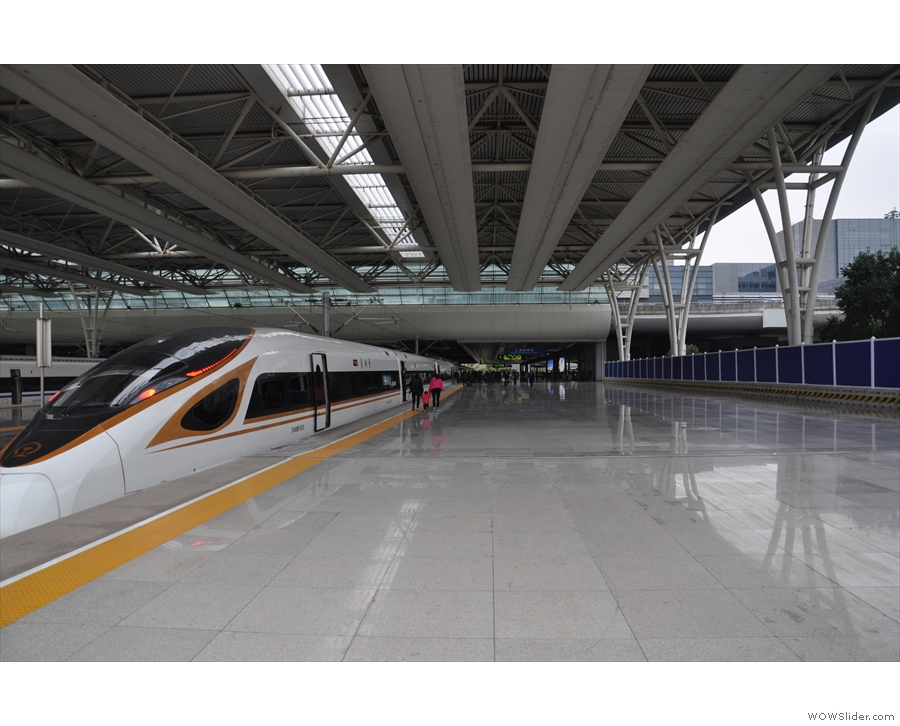 My train, the G14 service, waiting to depart Shanghai Hongqiao for Beijing Nan.