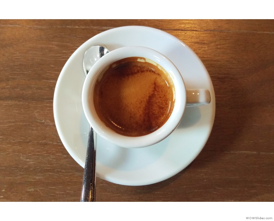 I'll leave you with a last look at the crema on my espresso.