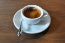My espresso was darker than some, but with a pleasing acidity to it.