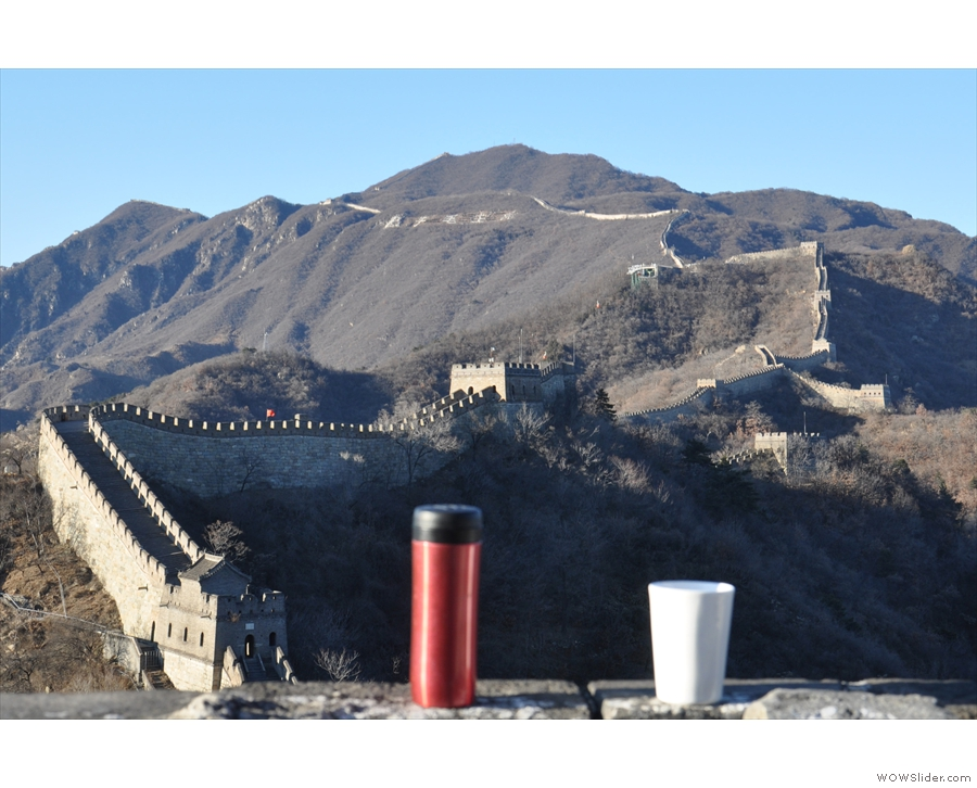 The Cover: I take my coffee to all the best places! This year, the Great Wall of China.