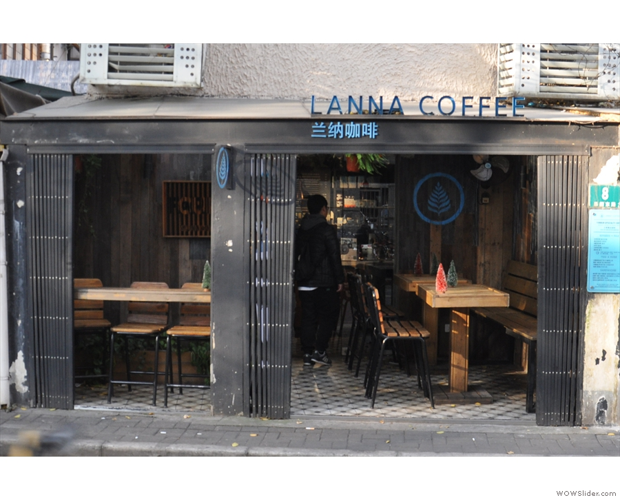 However, a closer look reveals an even smaller coffee shop at the back on the right.