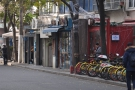 On Shanghai's Yuyuan Road, there's a row of small coffee shops...