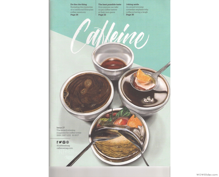 The cover of Issue 27 of Caffeine Magazine tackles the subject of taste.