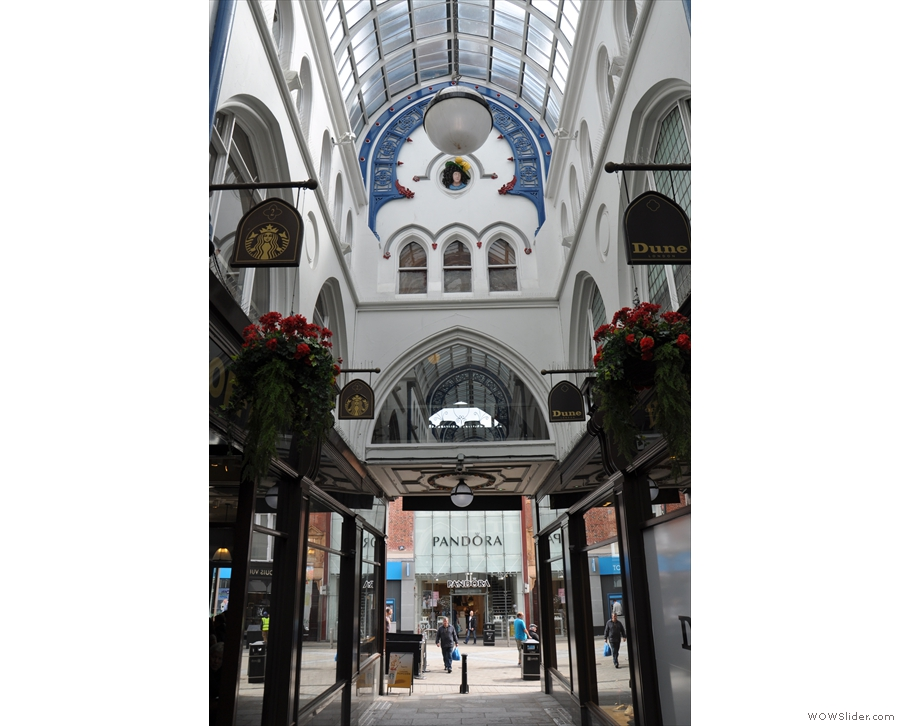 The view looking back to the Briggate, where you'll find the main entrance.