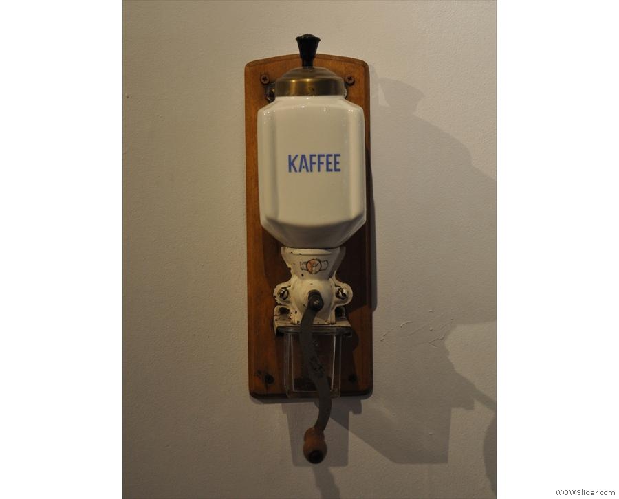 ... plus this vintage coffee grinder.